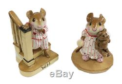 Wee Forest Folk M-217/8 Early Riser & Bunny Slippers Set Special (RETIRED)