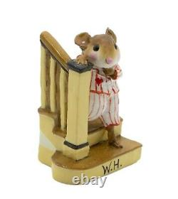 Wee Forest Folk M-217 Early Riser White withRed Stripes Special (RETIRED)