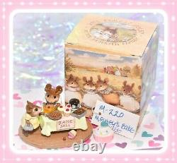 Wee Forest Folk M-220 Mousey's Bake Sale Retired Green Tablecloth Mouse Mice