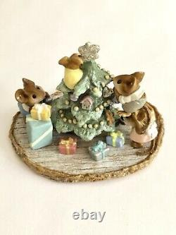 Wee Forest Folk M-240b Time to Trim 1999 Signed WFF Limited Edition (RETIRED)