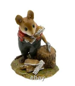 Wee Forest Folk M-243 Woody Woodmouse Orange/Black Special (RETIRED)