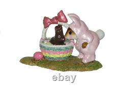 Wee Forest Folk M-251 Bunny in a Basket Pink (RETIRED)
