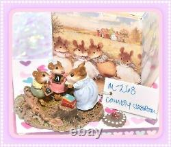 Wee Forest Folk M-268 Country Classroom Retired Teacher Students Mouse WFF