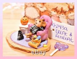 Wee Forest Folk M-273a Treat & Retreat Halloween Skeleton Mouse Retired WFF