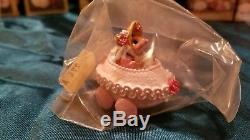 Wee Forest Folk M-274 Easter Egg Mobile pink baby 2002 retired mice figurine