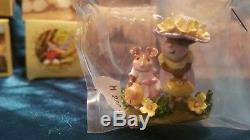 Wee Forest Folk M-292s Fancy That! Mice figurine retired