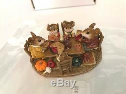 Wee Forest Folk M-302 FAMILY GATHERING, Thanksgiving Retired MINT in Box