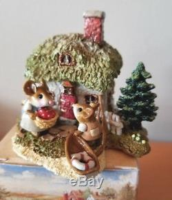 Wee Forest Folk M-311a A COTTAGE FOR ALL SEASONS SPRING Retired Mint
