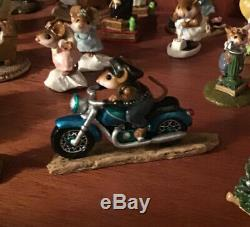Wee Forest Folk M-314 Sparkey Special Edition Turquoise Retired Motorcycle Bike