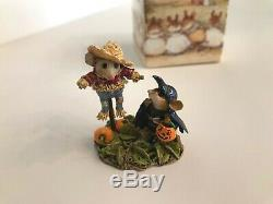 Wee Forest Folk M-325 SCARED CROW, Retired NEW in Box