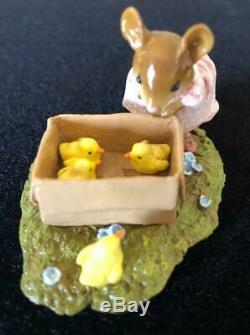 Wee Forest Folk M-347s SPRING PEEPERS Retired XLNT Christmas Gift