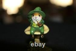 Wee Forest Folk M-406 Wee Leprechaun Willy Peterson 2010 Excellent Retired