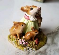 Wee Forest Folk M-502 HONEY BUNNIES RETIRED THIS YEAR! -New in box