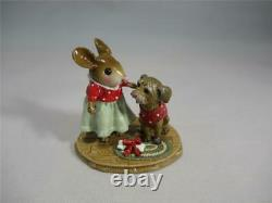 Wee Forest Folk M-516 Warm & Fuzzy Red Snowflake Retired and New in WFF Box