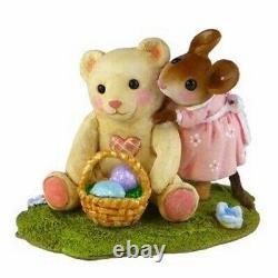 Wee Forest Folk M-522 Teddy's Easter Hug (RETIRED)