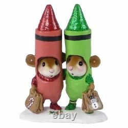 Wee Forest Folk M-533a Christmas Crayons Factory Special (RETIRED)