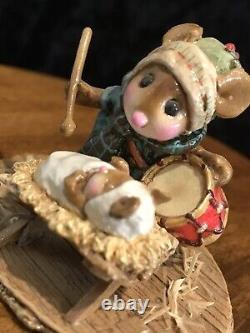 Wee Forest Folk M-603 Christmas Little Drummer Boy Retired Annette Petersen