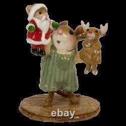 Wee Forest Folk M-657b The Santa and Rudy Show Boy (RETIRED)