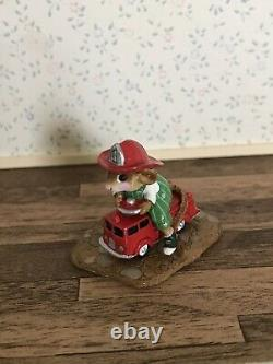 Wee Forest Folk MP-4 Fire Mouse With Fire EngineMouse ParadeRetired
