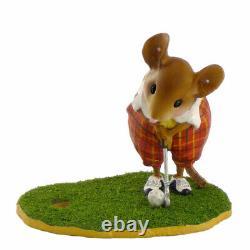 Wee Forest Folk MS-30 Puttering Around Miniature Golf Figurine