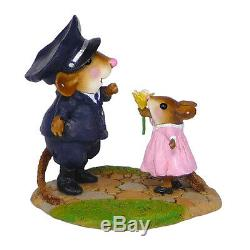 Wee Forest Folk MY HERO, WFF# M-525, Retired Police Mouse