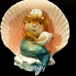 Wee Forest Folk Merry Mermouse Ornament RETIRED Mermaid Mouse Signed Xmas
