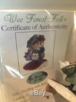 Wee Forest Folk Mice Bustling with Baby M-430 mouse retired limited edition NEW