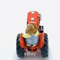 Wee Forest Folk Miniature Figurine Field Mouse Red Tractor M 133 Retired
