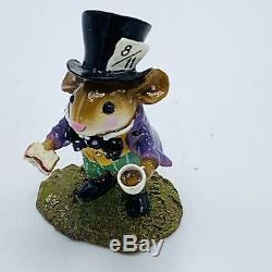Wee Forest Folk Miniature Figurine Mad Hatter in Alice in Wonderland Retired