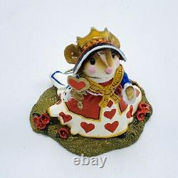 Wee Forest Folk Miniature Figurine Queen of Hearts Alice in Wonderland Retired