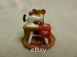 Wee Forest Folk Miss Bobbin Limited Valentines Edition M-40 Mouse Heart Retired