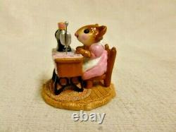 Wee Forest Folk Miss Bobbin Special Edition Pink M-40 Retired Figurine Sewing