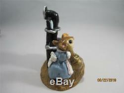 Wee Forest Folk Miss Polly Mouse Blue Dress Retired in Older Style WFF Box
