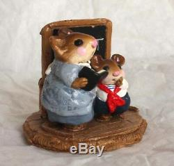 Wee Forest Folk Miss Teach and Pupil M-073 1982 Retired Made For 2 Yrs