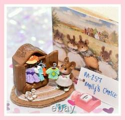 Wee Forest Folk Molly's Choice M-257 RETIRED Mouse Closet Clothes Wardrobe