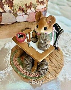 Wee Forest Folk Mrs Mousey's Studio M184 20th Anniversary 1992 RETIRED