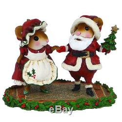 Wee Forest Folk NORTH POLE PROMENADE, WFF# M-500, Retired 2015 Santa Mouse