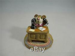 Wee Forest Folk Office Mousey Pink Dress Retired WFF Box