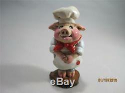 Wee Forest Folk P-02 Piggy Baker Wonderful Vintage Piece Retired WFF Box