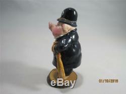 Wee Forest Folk P-08 Piggy Policeman Wonderful Vintage Piece Retired WFF Box