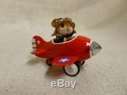 Wee Forest Folk Pedal Plane Fourth of July Special M-309 Retired Red