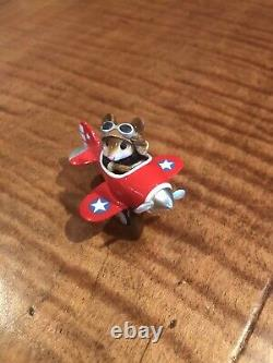 Wee Forest Folk Pedal Plane Fourth of July Special M-309 Retired RedCute