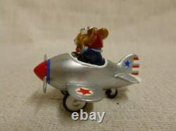 Wee Forest Folk Pedal Plane Special Edtion Silver M-309 Mouse Retired