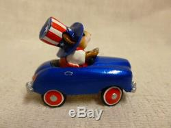 Wee Forest Folk Pedal Pusher Fourth of July Special M-270 Retired Blue Car