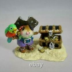 Wee Forest Folk Pirate's Treasure RETIRED Halloween WFF Adorable! Free Ship