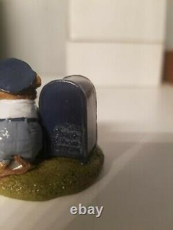 Wee Forest Folk Postmouster 1984 Retired, Rare, Signed by WP, LTD-1 free ship