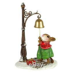 Wee Forest Folk RINGING IN CHRISTMAS, WFF# M-627, Retired Christmas Mouse