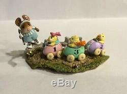 Wee Forest Folk Racey Chicks Easter RETIRED