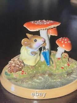 Wee Forest Folk Raindrops Retired Mushroom Mouse MILL Pond Series W