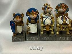 Wee Forest Folk Retired Blue King and Queen Set 6 WFF Mint Never Displayed
